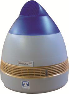 l'humidificateur à vapeur froide par brumisation est destiné aux chambres froides et entrepot de stockage de fruits et légumes, c'est un brumisateur vapadisc 777