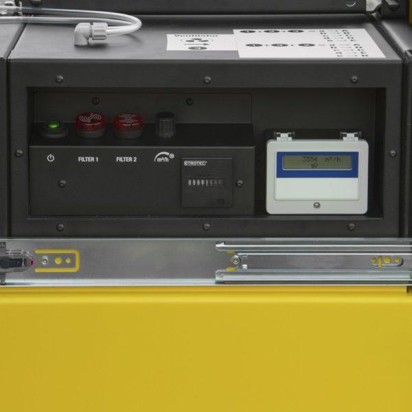 compteur de fonctionnement du purificateur trotec tac5000 pour filtrer les moisissures dans l'air