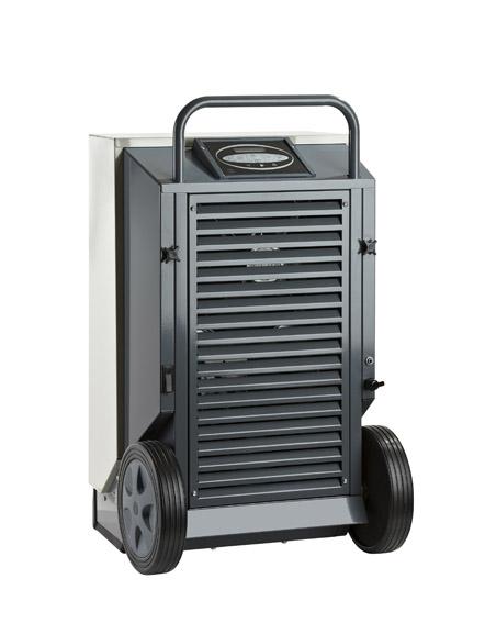 déshumidificateur d'air professionnel de chantier dantherm cdt 40 mk2 pour inondation, assèchement dégat des eaux et chantier. déchumidificateur empilable