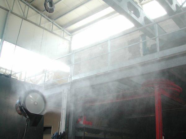 teddington vapadisc 750 brumisateur d'air pour entrepot industriel