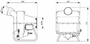 dimension humidificateur vapadisc p5